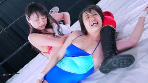 なつめ愛莉vs香山亜衣のエロいキャットファイトフェチが悦ぶ格闘技AV動画作品FGI