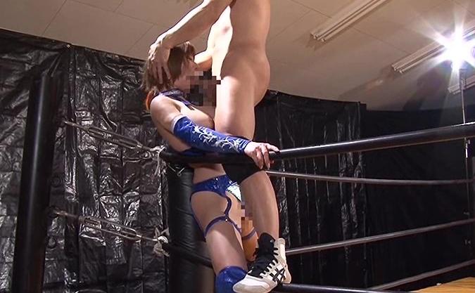 華名に激似の巨乳プロレスラーが負けたらセックスというエロ展開をはらんだAV